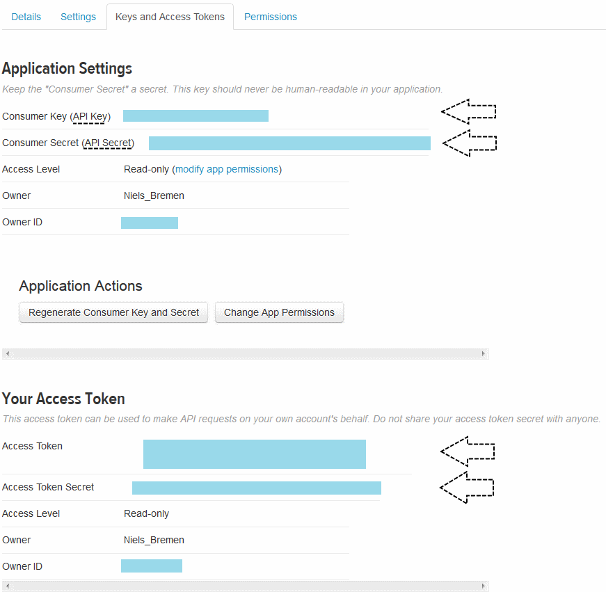 Api-Token der App kopieren und in RStudio einfügen